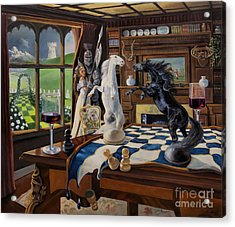 Queen's Magic Acrylic Print by Jeanne Newton Schoborg