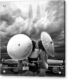 Queens Of The Highway Acrylic Print by Larry Butterworth