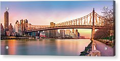Queensboro Bridge At Sunset Acrylic Print