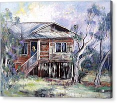 Queenslander Style House, Cloncurry. Acrylic Print