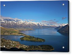 Acrylic Print featuring the photograph Queenstown Panoramic by Odille Esmonde-Morgan