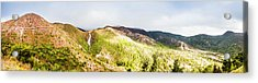 Queenstown Tasmania Wide Mountain Landscape Acrylic Print