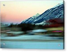 Quick To The Mountain Acrylic Print by Mario Brenes Simon