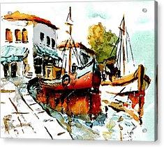 Quiet Corner On The Med Acrylic Print