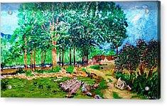 Quiet Countryside Acrylic Print by Narayan Iyer