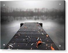 Quiet Lake Acrylic Print by Marc Huebner