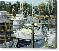 Quiet Marina Acrylic Print