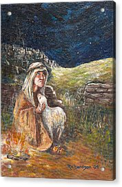 Acrylic Print featuring the painting Quiet Night by George Richardson
