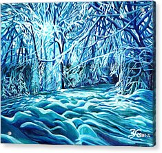 Quiet Of Winter Acrylic Print by Suzanne King