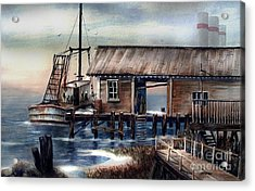 Quiet Pacific Dockside Acrylic Print