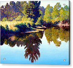 Quiet Pond Acrylic Print by Kevin Lawrence Leveque