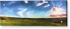 Quiet Prairie II Acrylic Print by Jon Glaser