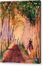 Quiet Ride Acrylic Print