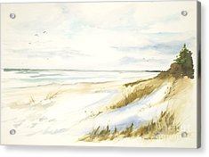 Acrylic Print featuring the painting Quiet Season by Sandra Strohschein