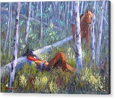 Quiet Siesta Acrylic Print by Debra Mickelson