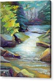 Quiet Stream Acrylic Print by Melanie Miller Longshore