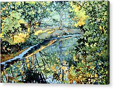 Quiet Stream Near Milk House Acrylic Print