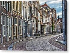 Quiet Street In Dordrecht Acrylic Print