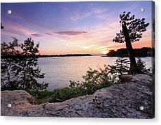 Acrylic Print featuring the photograph Quiet Sunset by Jennifer Casey