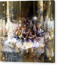 Acrylic Print featuring the digital art  Quiet Thunder by Linda Sannuti