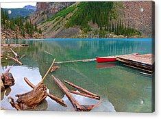 Moraine Lake I, Alberta Acrylic Print by Heather Vopni
