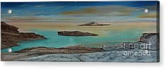 Quiet Tropical Waters Acrylic Print by Rod Jellison