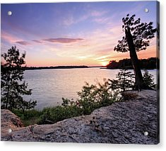 Acrylic Print featuring the photograph Quiet Waters Crop by Jennifer Casey