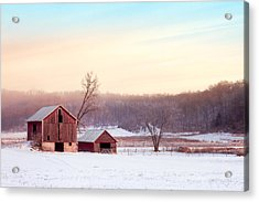 Quiet Winter Valley Acrylic Print