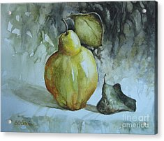 Acrylic Print featuring the painting Quince... by Elena Oleniuc