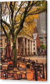 Quincy Market Autumn - Boston Acrylic Print