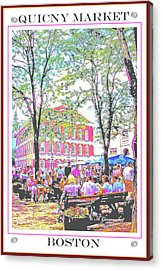 Quincy Market, Boston Massachusetts, Poster Image Acrylic Print