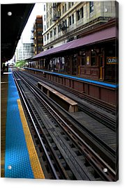 Acrylic Print featuring the photograph Quincy Train Station  by Joanne Coyle