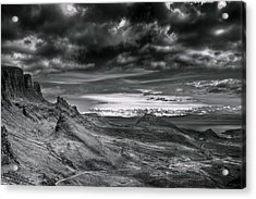 Quiraing On Isle Of Skye Scotland Acrylic Print