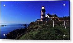 Quoddy Head By Moonlight Acrylic Print