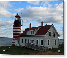 Acrylic Print featuring the photograph Quoddy Head Light by Francine Frank