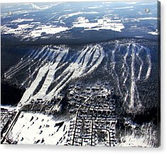 R-021 Rib Mountain Wisconsin Winter Acrylic Print