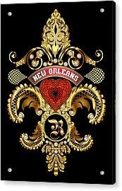 R-fleur-de-lis New Orleans Transparent Back Pick Color Acrylic Print by Bill Campitelle