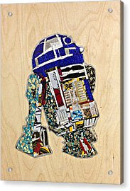 R2-d2 Star Wars Afrofuturist Collection Acrylic Print