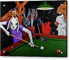 Rabbit Games Acrylic Print