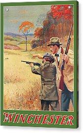 Rabbit Hunting Acrylic Print by George Brehm