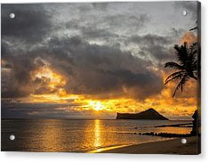 Rabbit Island Sunrise - Oahu Hawaii Acrylic Print by Brian Harig