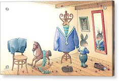 Rabbit Marcus The Great 27 Acrylic Print by Kestutis Kasparavicius