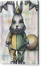 Rabbit Pierrot Acrylic Print