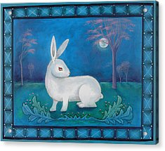 Acrylic Print featuring the painting Rabbit Secrets by Terry Webb Harshman