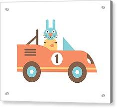 Rabbit Racer Acrylic Print by Mitch Frey