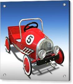 Race Car Peddle Car Acrylic Print by Mike McGlothlen