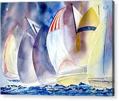 Race For The Mark Acrylic Print