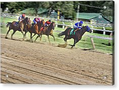 Race Horses In Motion Acrylic Print