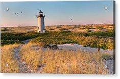 Race Point Light Sand Dunes Acrylic Print by Bill Wakeley