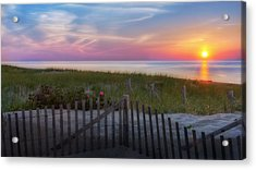 Acrylic Print featuring the photograph Race Point Sunset 2015 by Bill Wakeley